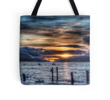 Sun going down over Loch Ness Tote Bag