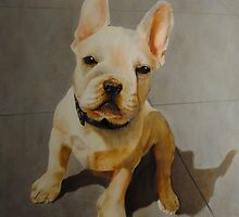 French bulldog painting by Boris J