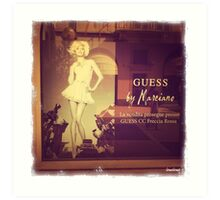 Guess by Marciano Art Print