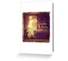 Guess by Marciano Greeting Card