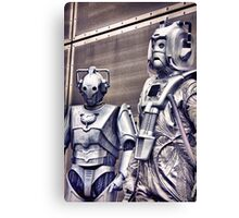 Cybermen - old and new Canvas Print