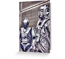 Cybermen - old and new Greeting Card