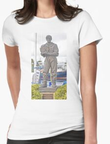 DEDICATION TO SPONGE DIVERS TARPON SPRINGS FLORIDA Womens Fitted T-Shirt
