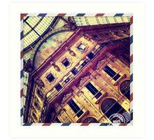 Centro, Galleria Vittorio Emanuele II, Milano Art Print