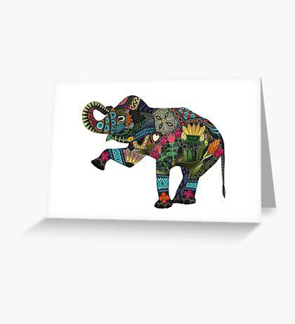 asian elephant white Greeting Card