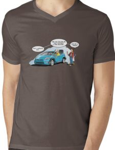 Hybrid to the Future Mens V-Neck T-Shirt