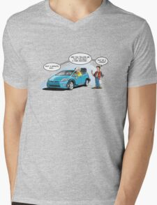 Hybrid to the Future Mens V-Neck T-Shirt