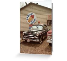 Route 66 Classic Car Greeting Card