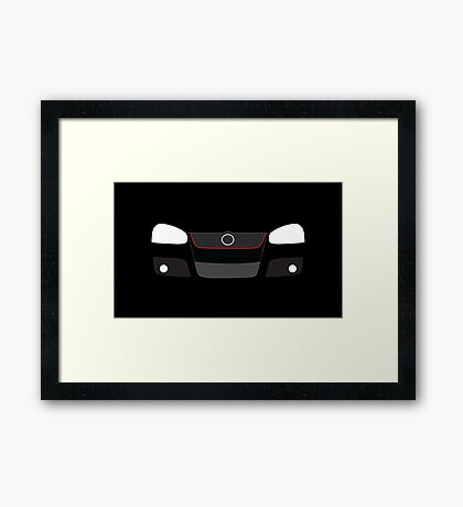 MK5 simple headlight and grill design Framed Print