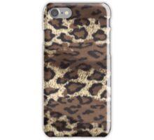 Faux Fur Leopard iPhone Case/Skin