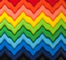 Chevron Rainbow Pencils by Gillian Cross