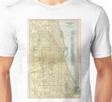 Vintage Map of Chicago (1891) Unisex T-Shirt