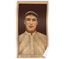 Benjamin K Edwards Collection Robert Coulson Brooklyn Dodgers baseball card portrait Poster