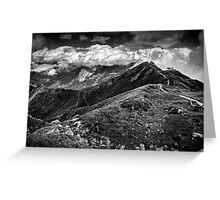 Golm (Alps, Austria) #9 B&W Greeting Card