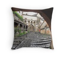Draculas City Throw Pillow