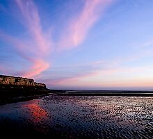 Hunstanton Cliffs at sunset by Gary Rayner