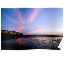 Hunstanton Cliffs at sunset Poster