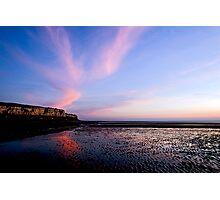 Hunstanton Cliffs at sunset Photographic Print