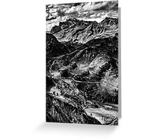 Golm (Alps, Austria) #4 B&W Greeting Card