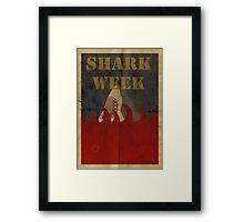 Shark Week Framed Print