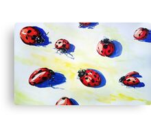 Ladybugs Bring Good Luck Canvas Print