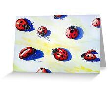 Ladybugs Bring Good Luck Greeting Card