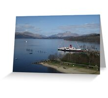 Maid Of The Loch, Loch Lomond, Balloch, Scotland Greeting Card