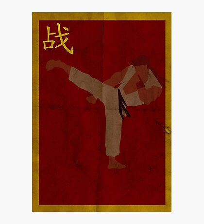 FIGHT: Ryu Photographic Print