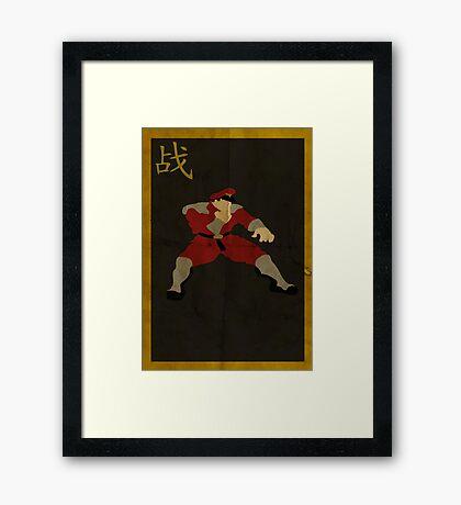 FIGHT: M. Bison Framed Print