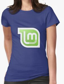 Linux Mint logo Womens Fitted T-Shirt