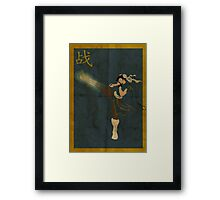 FIGHT: Chun Li Framed Print