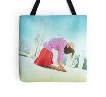 Ustrasana, Yoga in the beach, Barcelona  Tote Bag