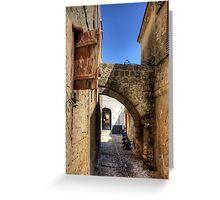 Alleyway in Rhodes Town Greeting Card