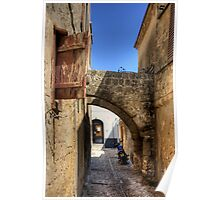 Alleyway in Rhodes Town Poster