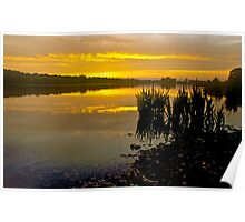 Sunrise on Whitlingham Broad Poster