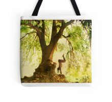 Handstand by the tree Tote Bag