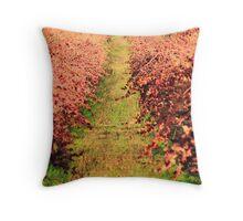 Winter Grape Vines Throw Pillow