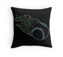 NEON BASEBALL Throw Pillow