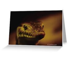 lace montitor portrait Greeting Card
