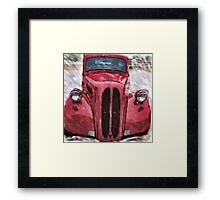 Classic in Red Framed Print