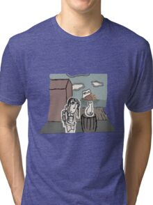 The Girl at the Dock's meet's a Cat Tri-blend T-Shirt