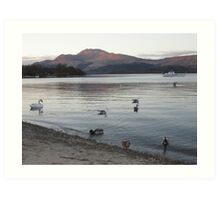 Luss At The End Of The Day, Scotland Art Print