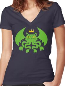 CATHULHU! Women's Fitted V-Neck T-Shirt