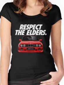 Respect The Elder - BMW E30/M3 Women's Fitted Scoop T-Shirt
