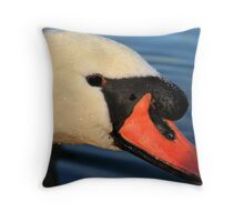 Friendly Mute Swan  Throw Pillow