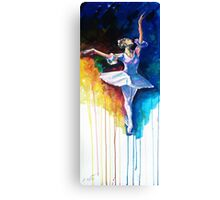 Colorful ballet dancer  Canvas Print