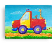 Peace, love and music truck Canvas Print