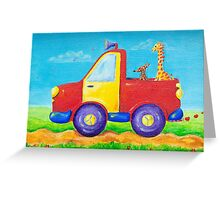 Peace, love and music truck Greeting Card