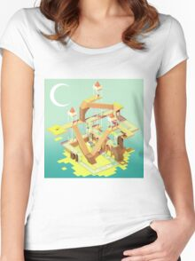 Puzzle Fortress Women's Fitted Scoop T-Shirt