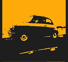 Fiat 500, 1973 - Yellow on charcoal by uncannydrive